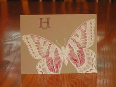 Stampin' Up! ... handmade card: On the Wings of Hope ... kraft ... big monarch  ... one layer ... like it!!