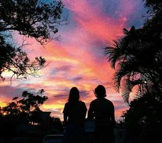 Watching the sunset colors paint the sky. Pretty Sky, Pink Sky, Pink Sunset, Pink Purple, Cute Relationship Goals, Foto Pose, Pretty Pictures, Summer Vibes, Scenery