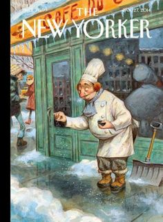 Jean-Jacques Sempé / Just a Pinch - The New Yorker Cover, January 2014 Poster Print by Peter de Sève at the Condé Nast Collection on imgfave The New Yorker, New Yorker Covers, Magazine Illustration, Illustration Art, Capas New Yorker, Cover Art, Just A Pinch, Canvas Prints, Art Prints