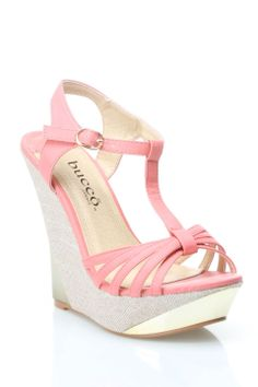 Tyler Wedges in Coral - Beyond the Rack