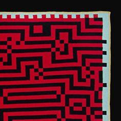 Barcelona Blanket, Red & Black