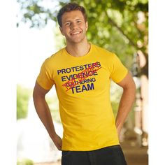 Sunshine Yellow T Shirt Fun Protesters Evidence Gathering Team Top Secret