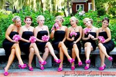 The flowers matching the shoes - LOVE