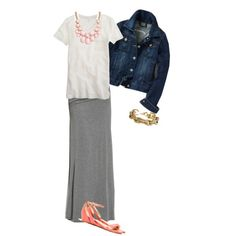 OOTD - 6/17 maxi for work by wrymommy, via Polyvore