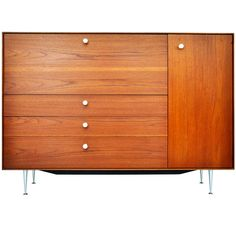 George Nelson, Thin Edge Drop-Front Secretary | From a unique collection of antique and modern commodes and chests of drawers at https://www.1stdibs.com/furniture/storage-case-pieces/commodes-chests-of-drawers/