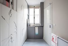 """Some smart choices were made in the transformation of this 86 sq ft micro apartment in Paris, France. What was once a """"maid's room"""" is now a fully functioning apartment Tiny Apartments, Tiny Spaces, Small Space Living, Tiny Living, Mini Loft, Maids Room, Compact Living, Apartment Living, Apartment Interior"""