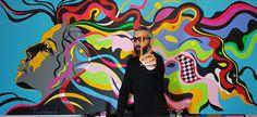 my new artwork ''She's a rainbow''....acrylic colours on a canvas ... #teodosio #art #modern #modernart #acryl #acrylic #teodosioart