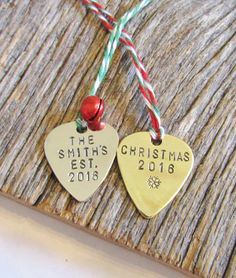 Hand Stamped Keychain Christmas from Daughter to Dad Mom Gift Best ...
