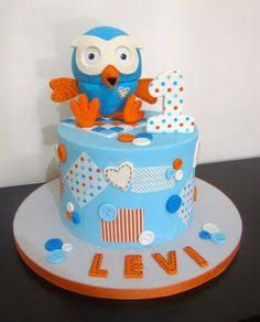 giggle and hoot cake - Google Search 1st Birthday Cakes, Boy Birthday Parties, Birthday Ideas, Cupcake Party, Party Cakes, Fondant Cakes, Cupcake Cakes, Cupcakes, Surprise Cake
