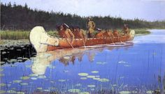 What an Unbranded Cow Has Cost, 1895 by Frederic Remington. Impressionism. genre painting