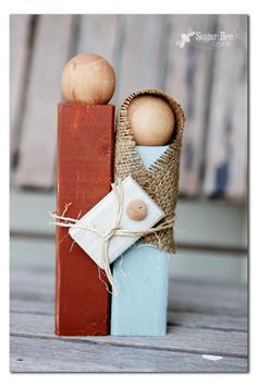 how to make a simple wooden statue nativity
