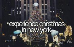 Ive already done it plenty of times, but I'd love to live there and experience it<3