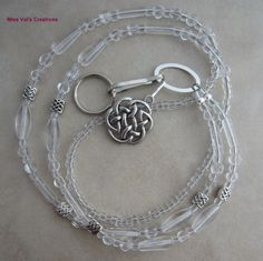 Celtic knot lanyard for your ID badge, keys, transportation pass and more!