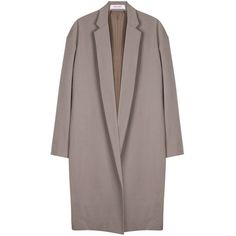 Organic by John Patrick | Long Coat | My Chameleon (1 479 AUD) ❤ liked on Polyvore featuring outerwear, coats, jackets, coats & jackets, tops, long coat, organic by john patrick, long brown coat, longline coat and brown coat