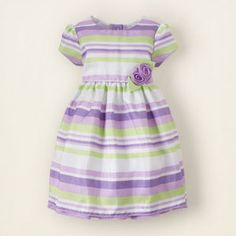 Stripped Rosette dress from The Children's Place