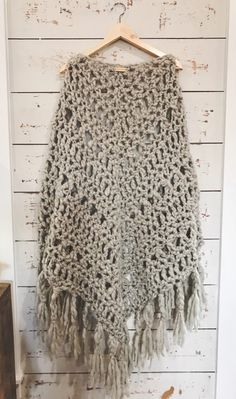 Chunky Crochet Shawl