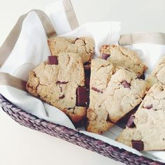 Paleo, low carb Chocolate Chip Cookie Scones