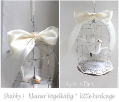seidenfeins Blog vom schönen Landleben: DIY * kleiner Vogelkäfig aus Draht * little wired birdcage