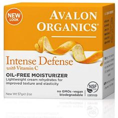 Avalon Organics Intense Defense with Vitamin C, Oil-Free Moisturizer 2 oz (Pack of - Worked perfectly very good product.This Avalon Organics that is ranked Vitamin C Oil, Proactive Skin Care, Avalon Organics, Skin Care Tools, Face Cleanser, Best Face Products, Organic Skin Care, Body Care, Biodegradable Products