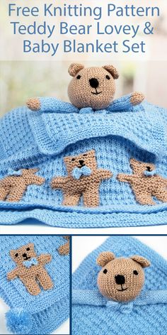 Knitting Pattern For Sleepy Bear In Rabbit Suit Height 7/""