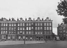 1950's. A view of the Kattenburgerstaat at the Oostelijke Eilanden neighborhood of Amsterdam seen from the Kattenburgerplein. The original buildings in the neighborhood were demolished in the 1950's and 1960's. In the 1970's the neighborhood was rebuilt with new residential and student housing units. Stadsarchief Amsterdam. #amsterdam #1950 #Kattenburgerstaat #Kattenburg
