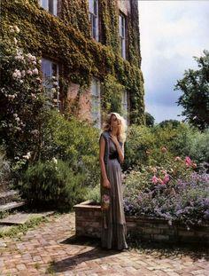 ethereal girl in garden