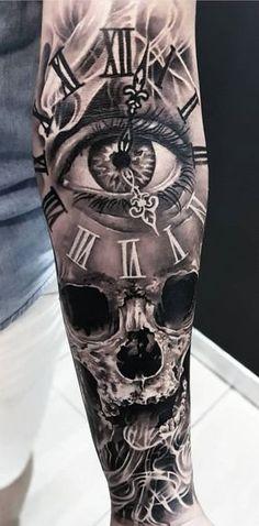 Gg gg - Geniale Tattoos - - List of the most beautiful tattoo models Biker Tattoos, Skull Tattoos, Foot Tattoos, Body Art Tattoos, Skull Tattoo Design, Tattoo Sleeve Designs, Tattoos For Women, Tattoos For Guys, Model Tattoo