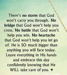 No Storm, Bridge, Battle or heartache