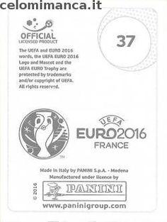 UEFA EURO 2016™ Official Sticker Album: Retro Figurina n. 37 Paul Pogba