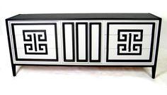 Black  white greek key   Greek-key-buffet