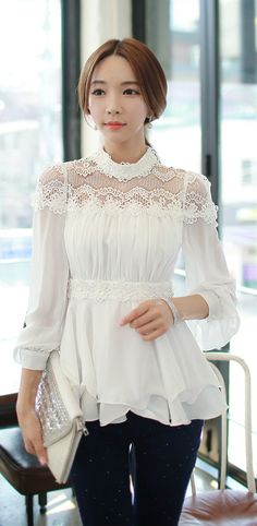 Morpheus Boutique  - White Bud Silk Collar  Chiffon Long Sleeve Shirt MB, CA$117.80 (http://www.morpheusboutique.com/white-bud-silk-collar-chiffon-long-sleeve-shirt/)
