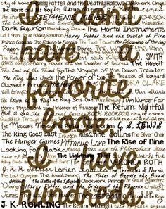 I love books and I love to read!!!