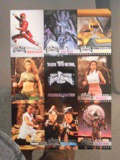 Power Rangers TV show 9 cards set uncut sheet 1994