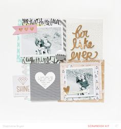 #papercraft #scrapbook #layout - For Like Ever by stephaniebryan at @studio_calico
