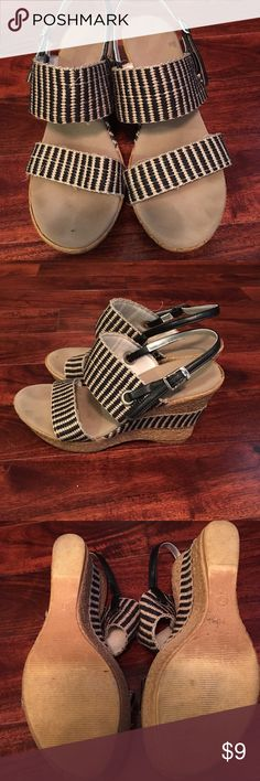 Wedges. Black and Tan. Size 7 Wedges. Black and Tan. Size 7 Shoes Wedges