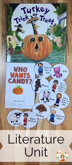 Turkey Trick or Treat by Wendi Silvano is a sweet picture book about the shenanigans of a silly turkey and his friends trying to get candy on Halloween.  This literature unit is full of fun activities including retelling sticks, a mini-book, and many language arts activities that are common core aligned for kindergarten, 1st, and 2nd grade.  Student approved and teacher friendly, you are sure to fall in love with this unit!
