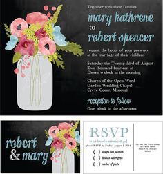 YES ALL INVITATIONS CAN BE CUSTOMIZED WITH color and information. yes you can change birds for owls or have an rsvp card instead of the