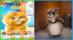 ✿Говорящий Кот Том и Котик Джинджер (Рыжик) Детский игровой мультик от K...