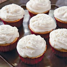 Vanilla Cupcakes with Creamy Vanilla Buttercream | MyRecipes.com
