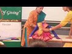 Saree draping for God by Mamatha - YouTube