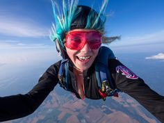 Photograph Colorful Skydiving Girl by David Bengtsson on 500px