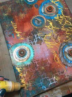 Art-C Winter 2016 CHA Paint - Art Journal Page Step 4 - Gwen Lafleur