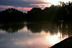 #zalew #zachódsłońca #krajobraz