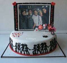 PynteKagen: One Direction konfirmationskage