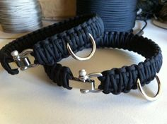 Paracord: The Ultimate Survival Tool - Way Outdoors Diy Dog Collar, Collar And Leash, Dog Collars, Dog Accesories, Pet Accessories, Pet Clothes, Dog Clothing, Paracord Dog Leash, Dog Clothes Patterns