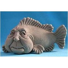 Fish Plaque Project. This one made me laugh.  Sid Boy Fish Collectible Hanging Plaque or Freestanding Statue - Natural Patina Finish