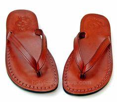 1aff2f59dad New Summer Style Of Comfort Flip-Flop Design Biblical Handwork Leather  Sandalsall size s   US EU Brown black !