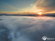 Sunset  Dronefoto fra Norge