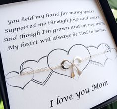 Gifts for Mom, Mother of the Bride gift, Silver Bow Bracelet with card, Wedding gift for Mom, Mother's Day Gift, Mother's Day Card,