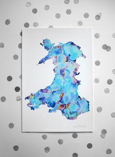 NEW LARGE / Map of Wales / Signed print / 13 x by NikiPilkington